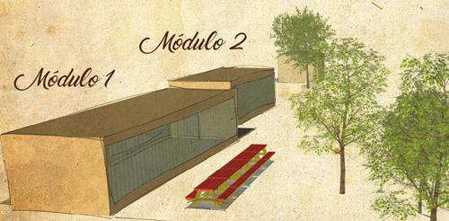 Boceto de las instalaciones del Centro de Interpretación.